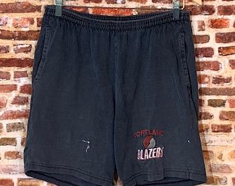 Vintage 90's Portland Trail Blazers Men's Large Shorts Rare