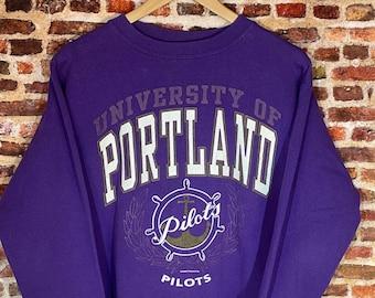 Vintage University of Portland Pilots Men's Medium Crewneck Sweatshirt Rare