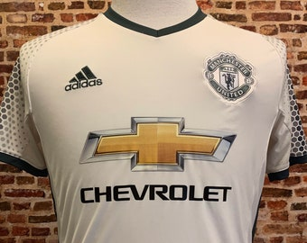 Manchester United Men's Small 2016 Alternate Soccer Jersey RARE made by Adidas