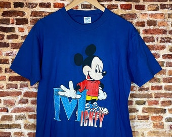 Vintage Mickey Mouse Men's Large Graphic Tee Shirt