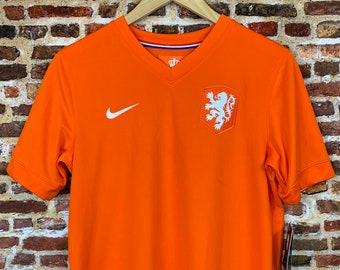 Netherlands National Soccer Team Youth XL 2014 World Cup Home Jersey Rare made by Nike