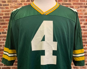 Vintage 90's BRETT FAVRE Green Bay Packers Men's XL (Size 48) Football Jersey Rare made by Champion