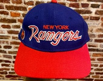 Vintage Sports Specialties NEW YORK RANGERS Fitted 6-7/8 Classic Script Hat
