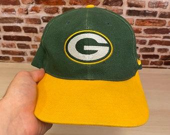 Vintage 90's Nike GREEN BAY PACKERS Classic Plain Logo Strapback Hat Rare