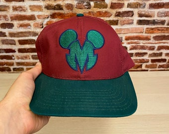 Vintage 90's MICKEY MOUSE Snapback Hat Rare