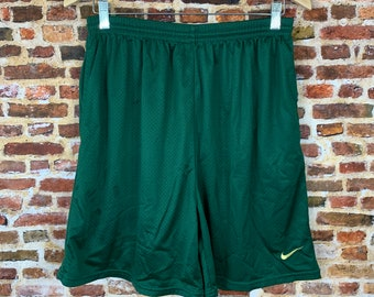 Vintage 90's Nike Oregon Ducks Athlete Issue Men's Large Mesh Workout Shorts RARE