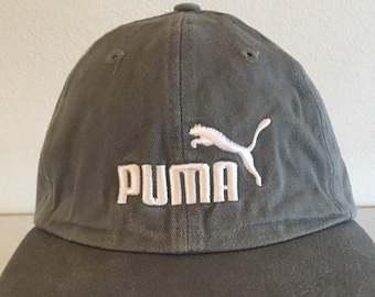 5828fccaaef Vintage 90 s PUMA Rare Hat Cap One Size Fits All Adjustable Strapback