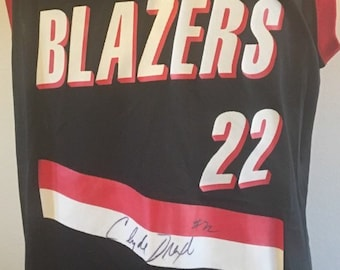 06513df3b Vintage 90 s AUTOGRAPHED Clyde Drexler Portland Trail Blazers Men s Large  (Size 44) Champion Jersey RARE Authentic  22 Signed