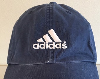 fd336415f37 Vintage 90 s ADIDAS Rare Hat Cap One Size Fits All Adjustable Strapback