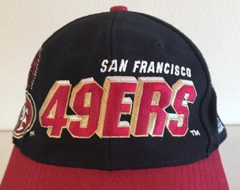 7728fc781 Vintage 80 s 90 s SAN FRANCISCO 49ERS Snapback Hat Cap Rare made by Sports  Specialties