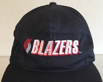 7cd0828b2df Vintage 80 s 90s PORTLAND TRAIL BLAZERS Snapback Hat Cap Rare One Size Fits  All