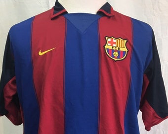e3553fa57 Vintage FC BARCELONA Men s XL Nike Rare Authentic Soccer Jersey
