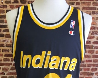 648723d08b76 Vintage 90 s REGGIE MILLER Indiana Pacers Men s Large (Size 44) Basketball  Jersey RARE made by Champion