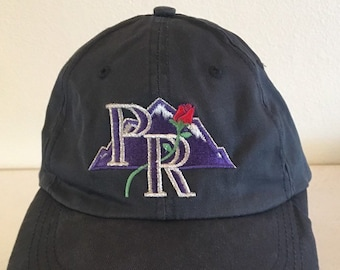 d374a71e6d0 Vintage 90 s PORTLAND ROCKIES Adjustable Strapback Hat Cap Rare One Size  Fits All