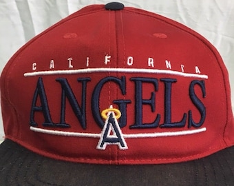 79792cfeb2b NEW Vintage 90 s CALIFORNIA ANGELS American Needle Snapback Hat Rare  Deadstock Los Angeles Baseball La Cap Wool Acrylic Mlb 80 s 70 s