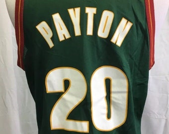 9e00d546a11 Gary Payton SEATTLE SUPERSONICS Vintage 90 s Men s Large Sz 44 Jersey Rare  Nba Basketball Green Shawn Kemp Tee Shirt Tank