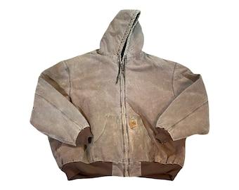 Vintage Carhartt Duck Canvas Men's 5XL Hooded Workwear Jacket