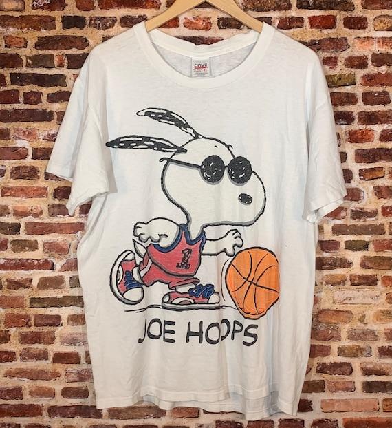 """Vintage Snoopy """"Joe Hoops"""" Men's XL Double Sided G"""