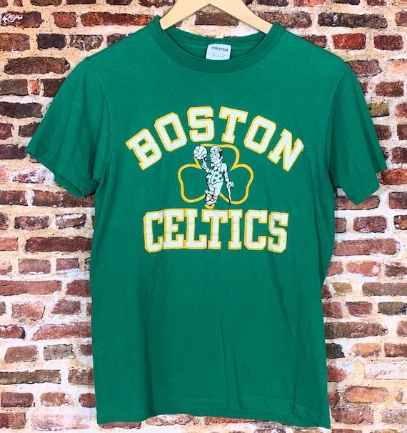 Vintage Boston Celtics Cropped Zip-up Tee S