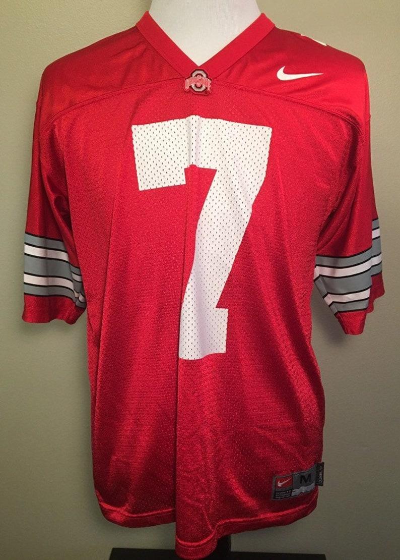 brand new 15848 cf781 Vintage OHIO STATE BUCKEYES Football Men's Medium Nike Jersey Rare #7  Authentic