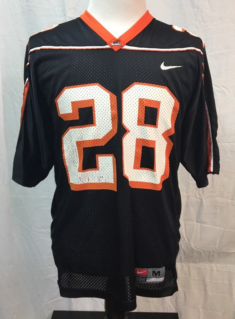 a45227364a222 Vintage OREGON STATE BEAVERS Football Men's Medium Nike Jersey Rare #28  Authentic