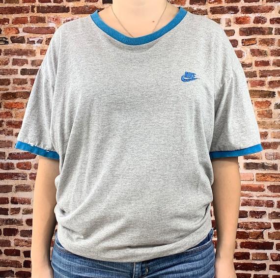 Vintage Nike Men's Large Ringer Tee Shirt Rare