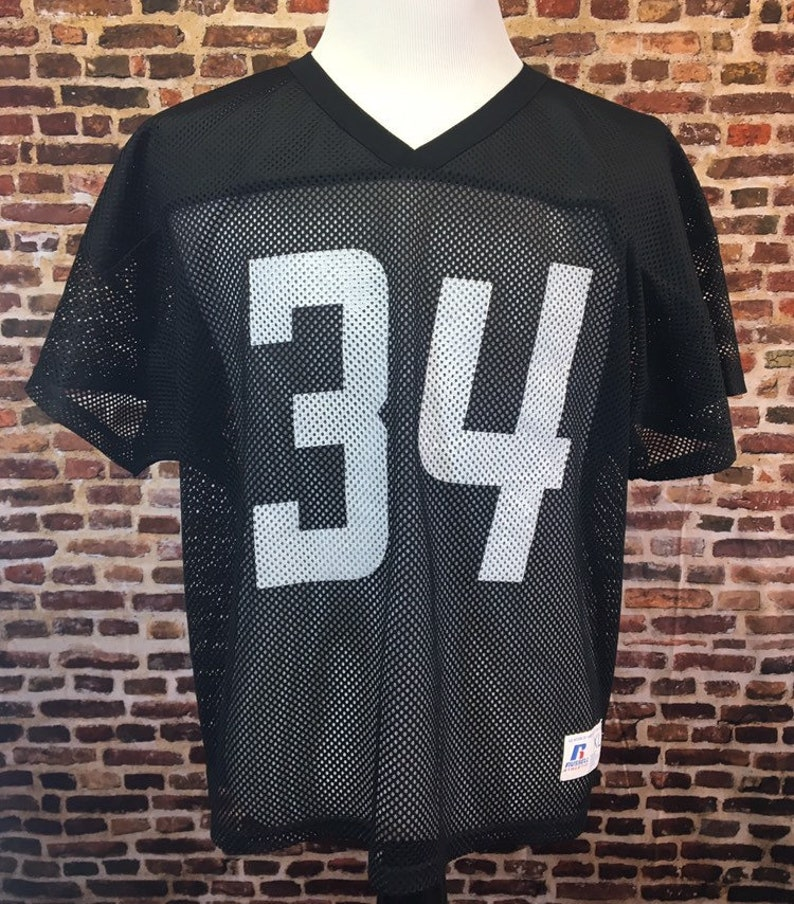 separation shoes a81aa ee0c7 Vintage 80's BO JACKSON #34 Oakland Raiders Men's X-Large Russell Athletic  Authentic Jersey RARE Nfl Football