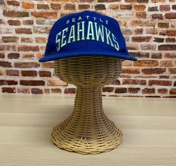 Vintage 90's SEATTLE SEAHAWKS Snapback Hat RARE ma
