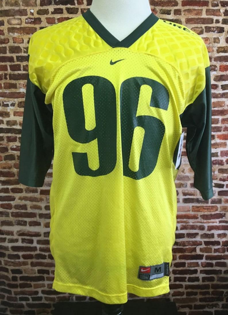 4be20a18a1d29 Vintage OREGON DUCKS Football Men's Medium Nike Jersey RARE #96 Authentic