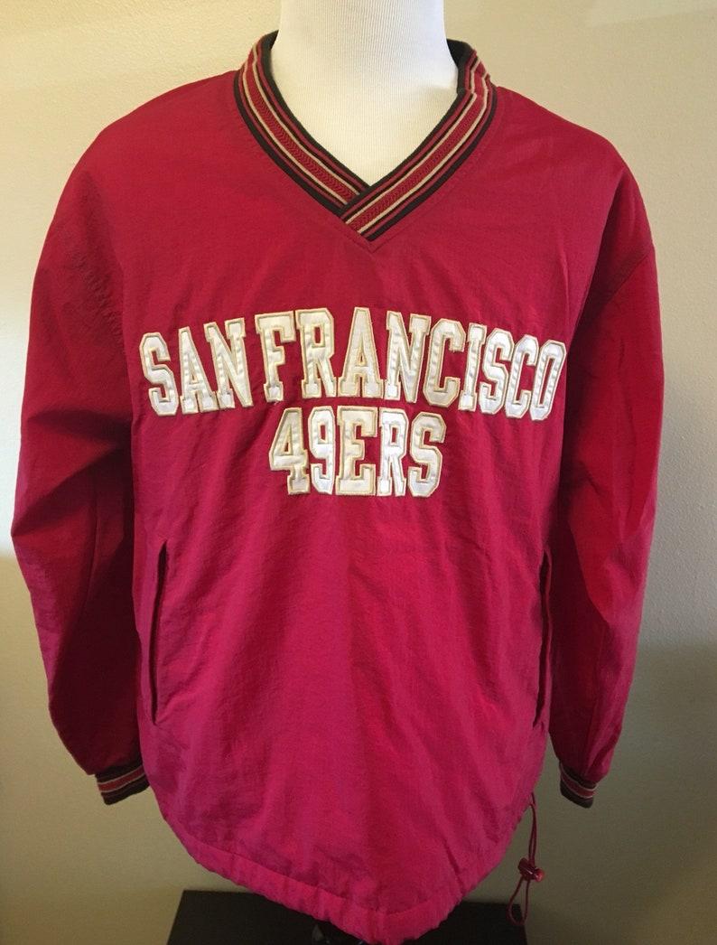 58174c37 Vintage 90's Champion SAN FRANCISCO 49ers Men's Medium Windbreaker Jacket  80's Nfl Football Rare Super Bowl Coat Pullover