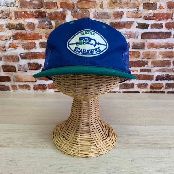 Vintage 80's SEATTLE SEAHAWKS Mesh Snapback Hat RA