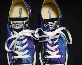 Galaxy Converse, Galaxy Low Tops, Custom Converse, Nebula Converse, Painted Converse, Galaxy Sneakers, Space Shoes, Galaxy Chuck Taylors