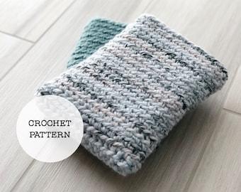 Crochet Pattern: Simple Chunky Book Sleeve // Book Cozy Pattern, Book Sleeve Pattern, iPad Sleeve, Kindle Sleeve, Crochet Book Cover