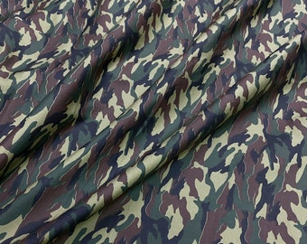 Camo Cotton Drill Fabric Soldier Army Military Camouflage Material 150cms  Wide