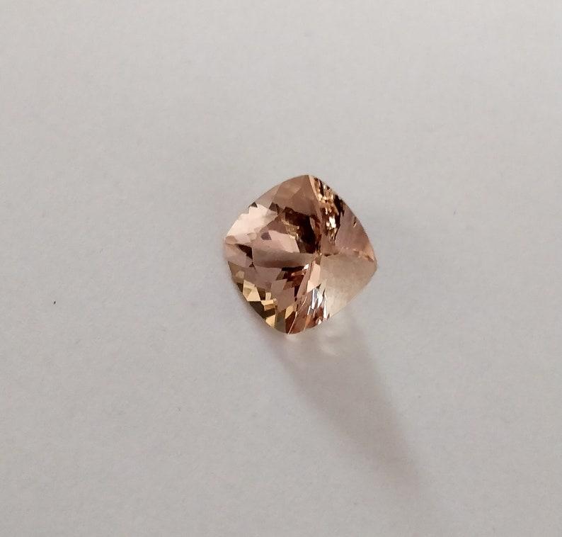AAA grade 8x6 mm Emerald cut Natural Peach Morganite loose stones Free Shipping