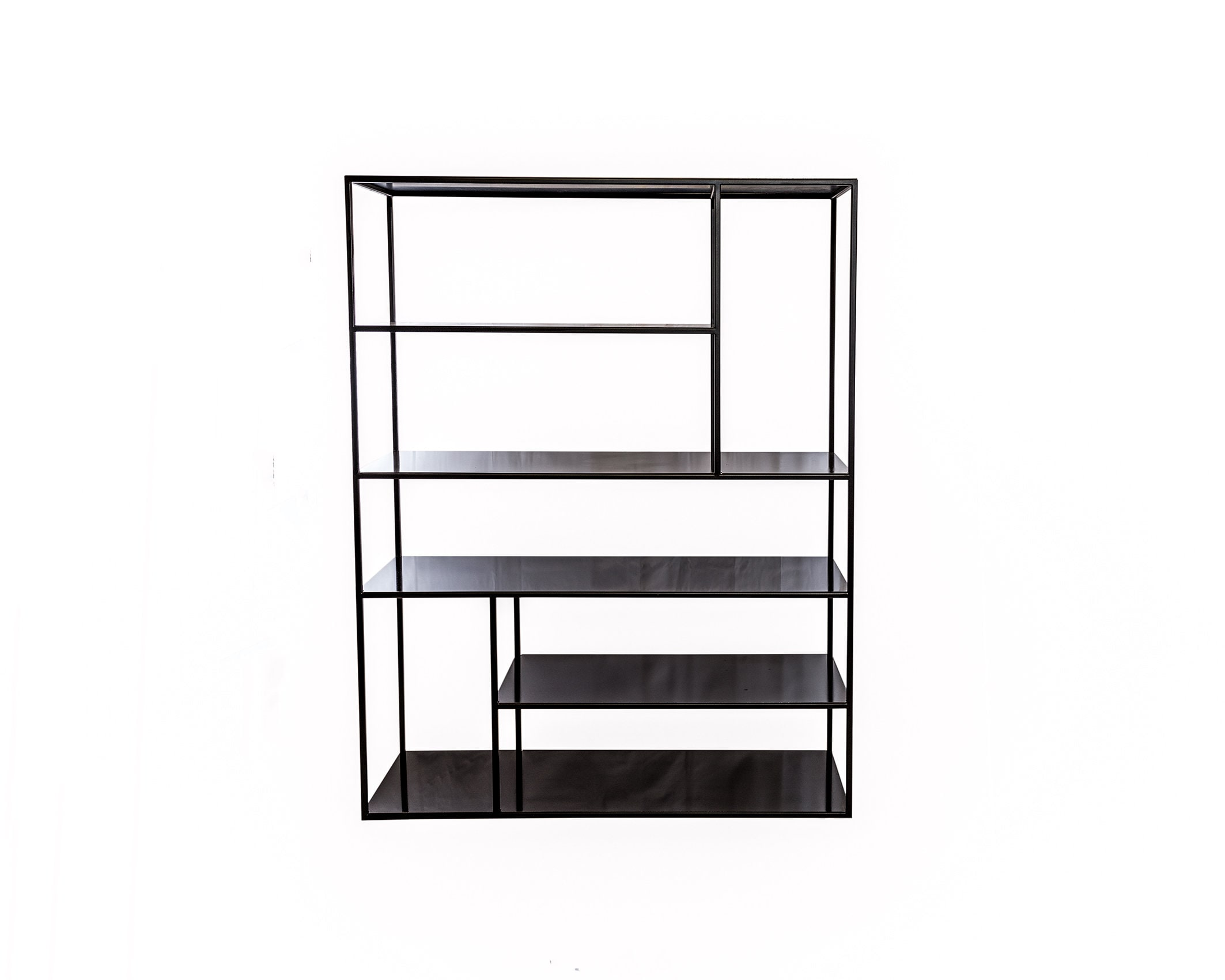 shelf bookcase style minimal iron made to measure. Black Bedroom Furniture Sets. Home Design Ideas