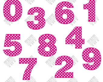 Dot numbers svg - Dot numbers vector - Dot numbers digital clipart for Print, Design or more, files download svg, png, dxf
