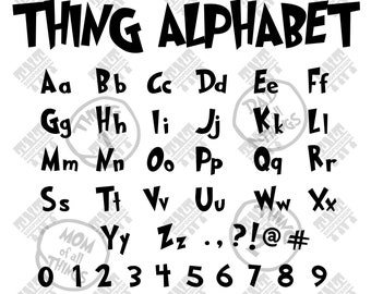 Thing alphabet svg - Thing alphabet vector - Thing alphabet digital clipart for Print, Design or more , files download svg, png, dxf