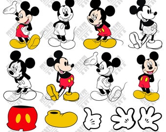 Mickey Mouse svg - Mickey Mouse vector - Mickey Mouse digital clipart for Print, Design or more , files download svg, png, dxf