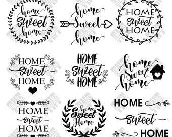 Home svg - Home sweet home svg - Home sweet home digital clipart for Print, Design or more, files download svg, png, dxf