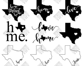 Texas map svg - Texas map vector - Texas map bundle - Texas map digital clipart for Print, Design or more, files download svg, png, dxf