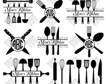 Kitchen svg - Split Kitchen svg - Split Kitchen monogram digital clipart for Print, Design or more , files download svg, png, dxf