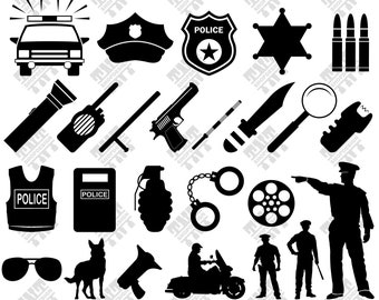 Police svg - Police vector - Police silhouette - Police digital clipart for Print, Design or more , files download svg, png, dxf