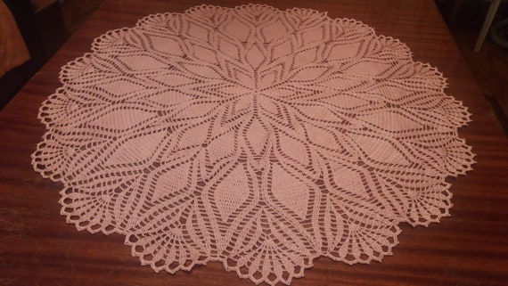Knitted Tablecloth Etsy
