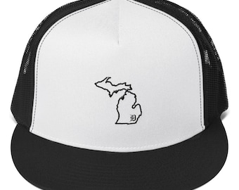Michigan outline with D Trucker Hat