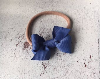 "Design Your Own Mini Hair Bow Headband; 2"" Baby Bow; Newborn Headband; Soft Nylon Headband Bow; Tiny Bow; Small Bow"