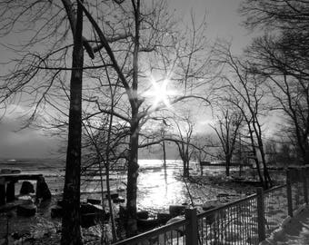 Black and white sunscape