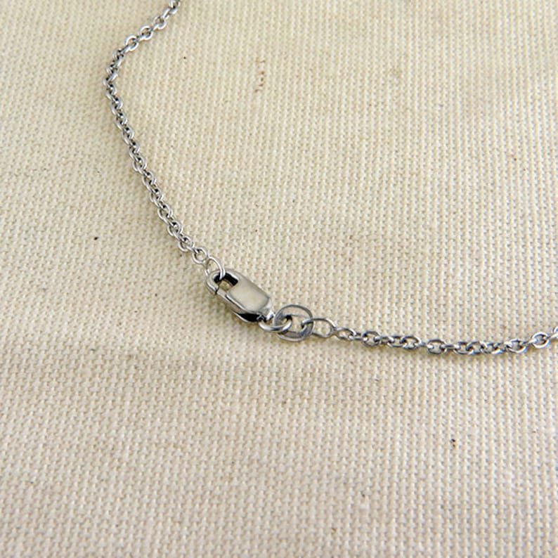 18 or 16 Sterling Silver Cable Chain 1.9 mm Rhodium Finish Plain Silver Necklace Silver Chain