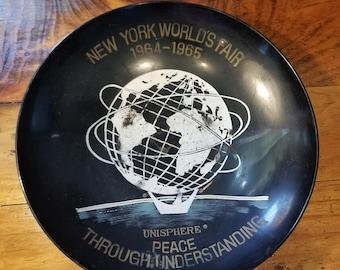 1964 New York World's Fair Peace Through Understanding deep Plate souvenir
