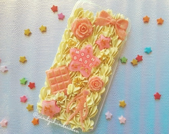 Fits iPhone 6+/6S+ / Handmade decoden phone case / 'Moon babe' Sailor Moon